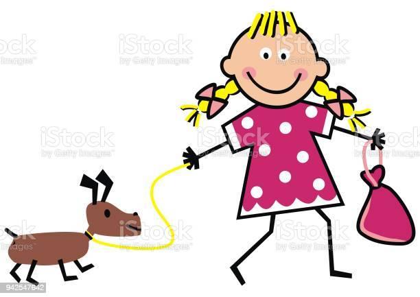 Girl and dog funny vector illustration vector id942547642?b=1&k=6&m=942547642&s=612x612&h=wpteft2atevnchmxvxhifygiz4nq3ac9e651ecwflkq=