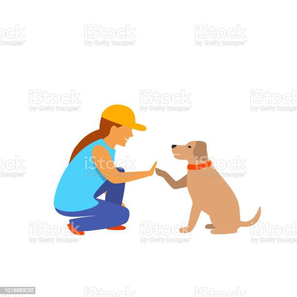 Girl and dog greeting isolated vector graphic scene vector id1018689232?b=1&k=6&m=1018689232&s=612x612&h=favhvu6hwpj zubwl9pcqmntz0gntqiqft5jdpbq2d0=