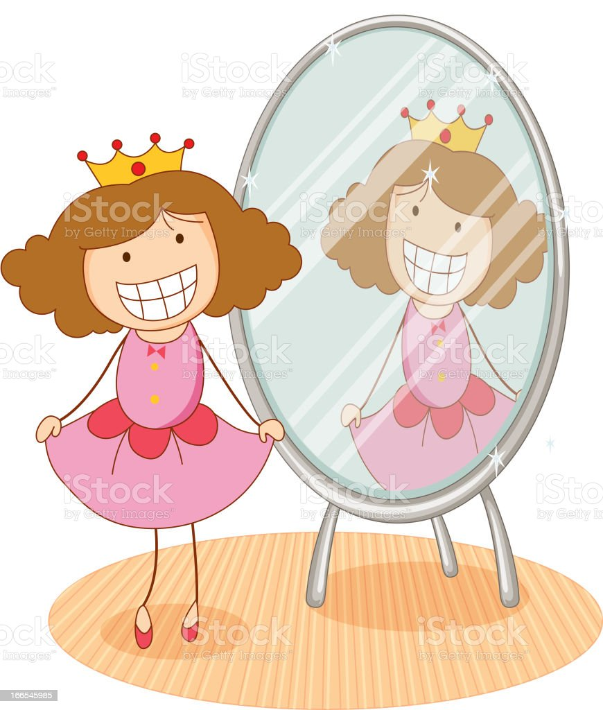 Girl and mirror royalty-free girl and mirror stock vector art & more images of adult
