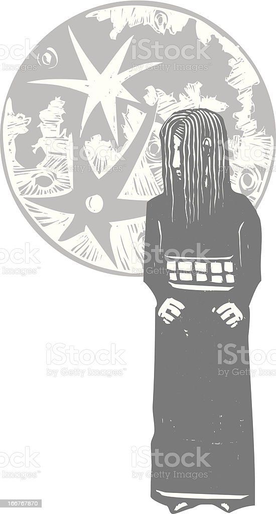 Girl and Moon royalty-free girl and moon stock vector art & more images of adolescence