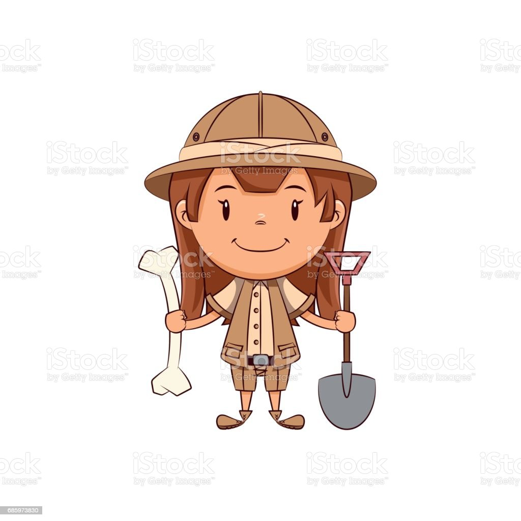 Girl archaeologist