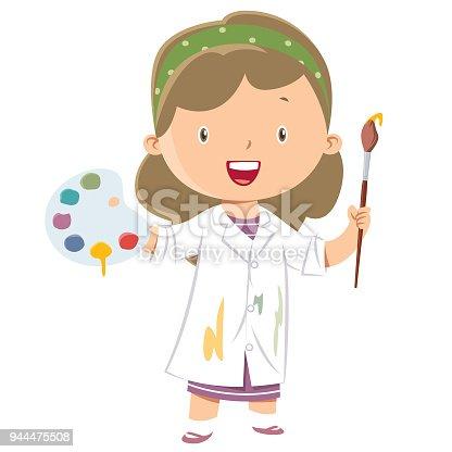 istock Girl art painter 944475508