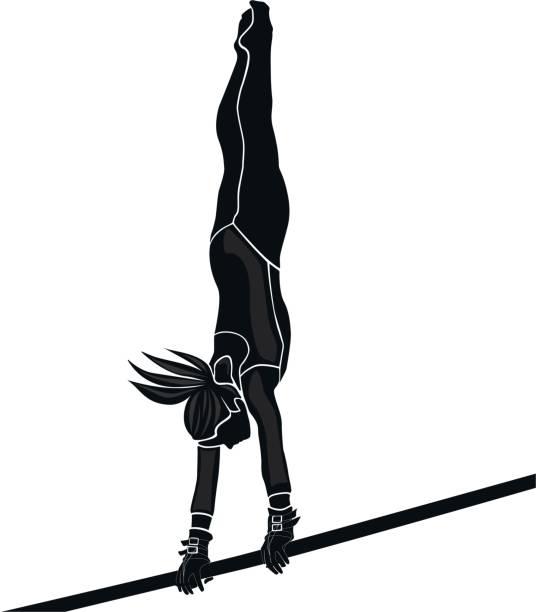 女の子の運動選手の体操選手 - 体操競技点のイラスト素材/クリップアート素材/マンガ素材/アイコン素材
