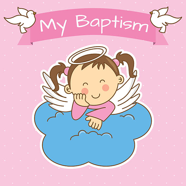 girl baptism - baptism stock illustrations, clip art, cartoons, & icons