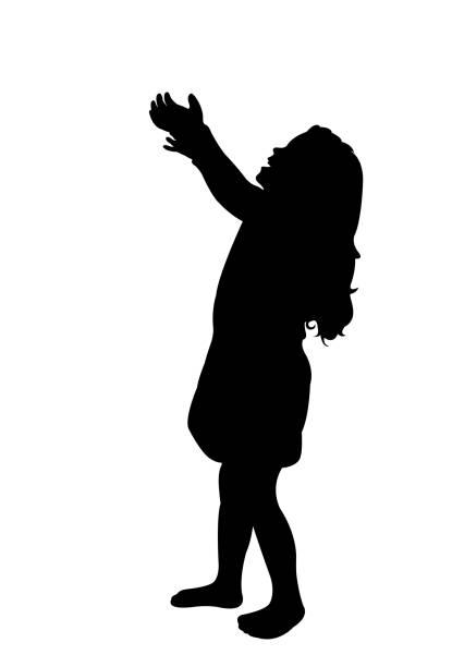 stockillustraties, clipart, cartoons en iconen met meisje lichaam silhouet vector - alleen één meisje