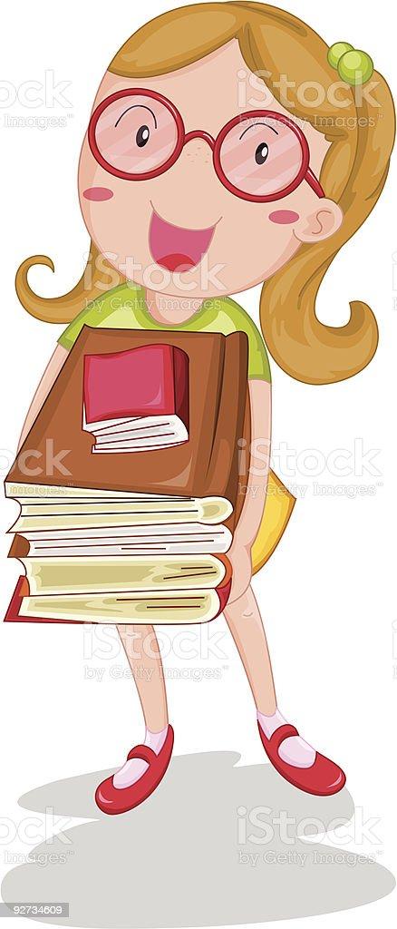 Mädchen tragen die Bücher Lizenzfreies mädchen tragen die bücher stock vektor art und mehr bilder von buch