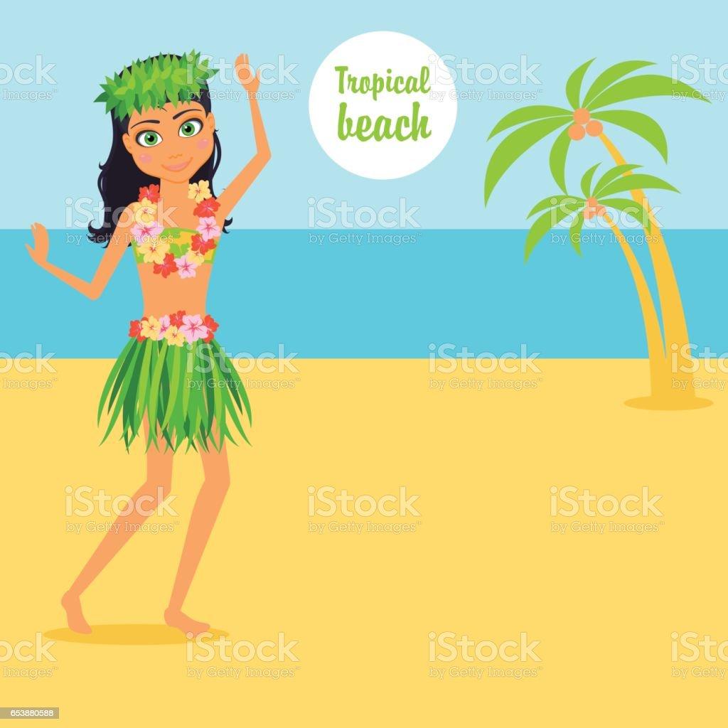 Girl character cartoon vector flat infographic illustration travel girl character cartoon vector flat infographic illustration travel woman on a tropical beach izmirmasajfo Images