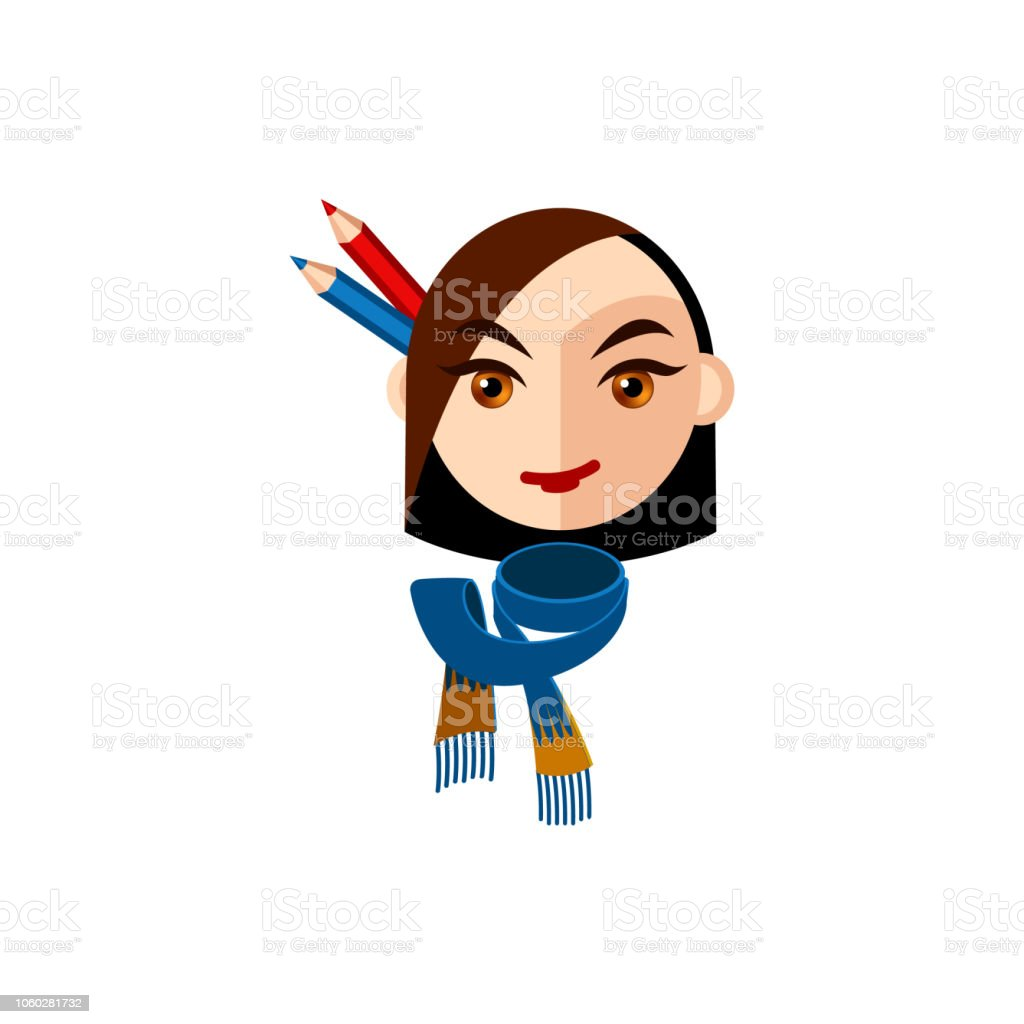 Girl Character With Brown Eyes And Brown Straight Hair Female