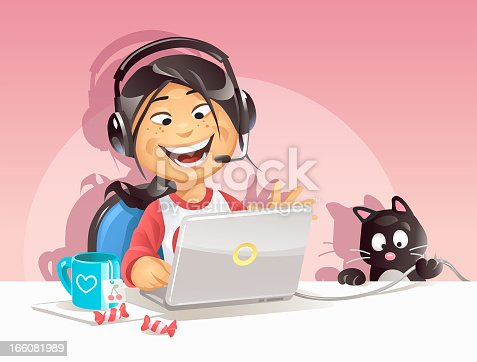 istock Girl Chatting On The Internet 166081989