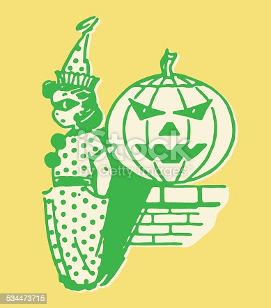 istock Girl Clown on Halloween 534473715