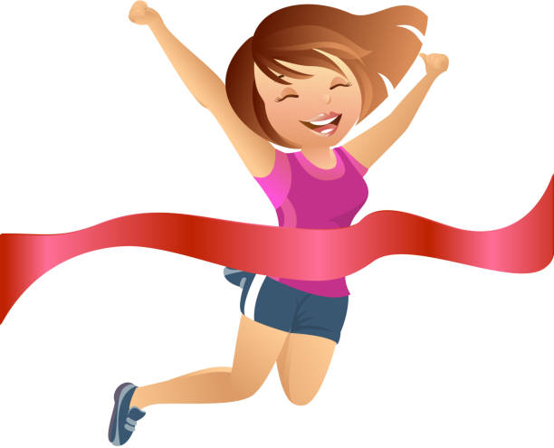 Girl Running Clip Art, Vector Images & Illustrations - iStock