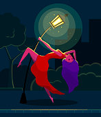 Girl dancing tango