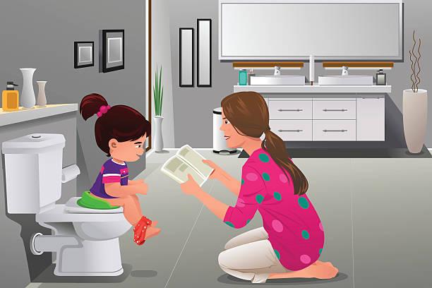 Best Potty Training Illustrations Royalty Free Vector