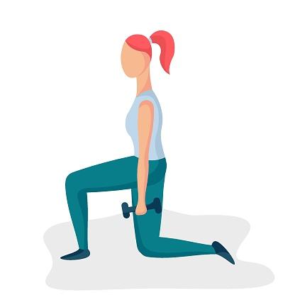 Girl doing squats 1