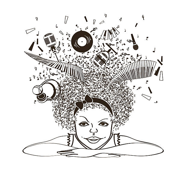 dreaming music soul illustrations illustration clip musician vector african afro royalty culture istock ethnicity cartoons