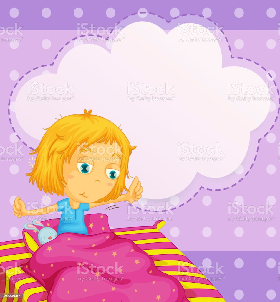 Girl dreaming royalty-free stock vector art