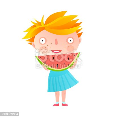 istock Girl Eating Watermelon 868939864