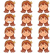 Girl face expressions