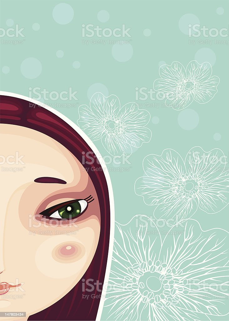Girl Face Part Close-up royalty-free girl face part closeup stock vector art & more images of adult