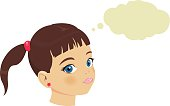 vector file of girl face