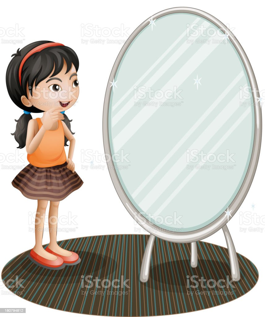Femme devant le miroir cliparts vectoriels et plus d for Derniere volonte devant le miroir