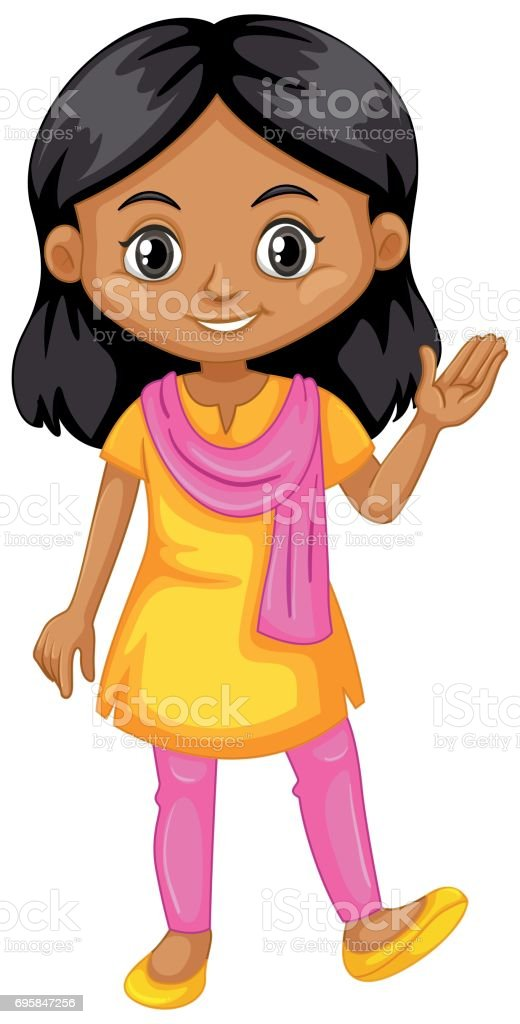 royalty free clip art of indian girl student clip art vector images rh istockphoto com Girl Student at Desk Girl Student at Desk