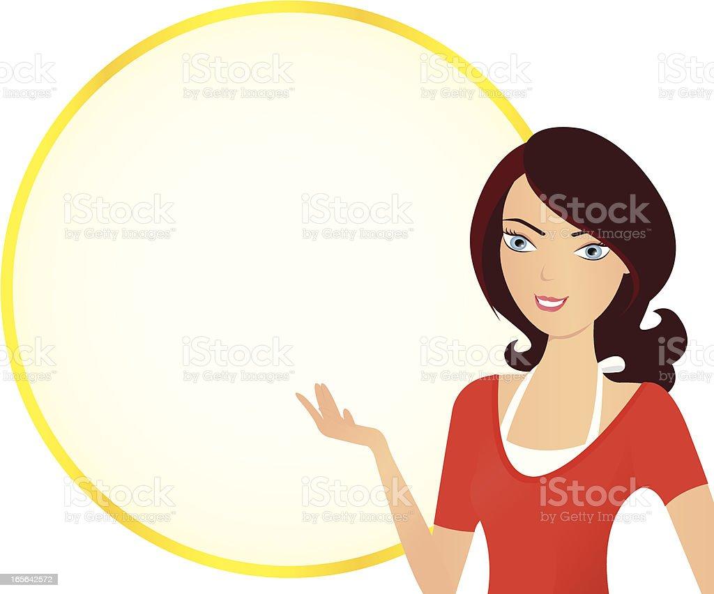 Girl gesture royalty-free stock vector art
