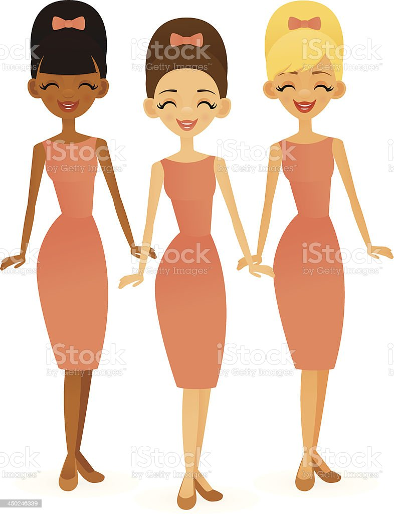 Girl Group royalty-free girl group stock vector art & more images of adult