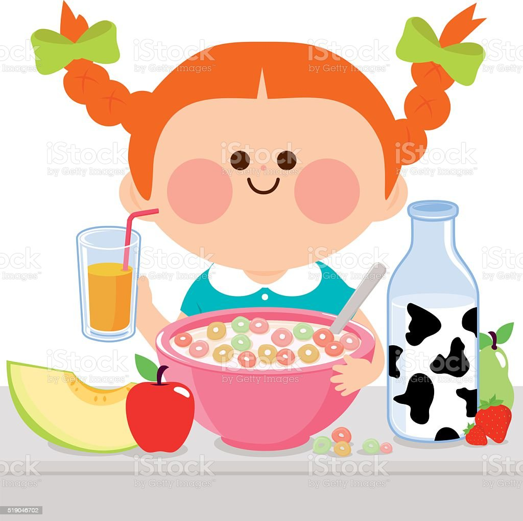 royalty free eating cereal clip art vector images illustrations rh istockphoto com boy eating breakfast clipart person eating breakfast clipart