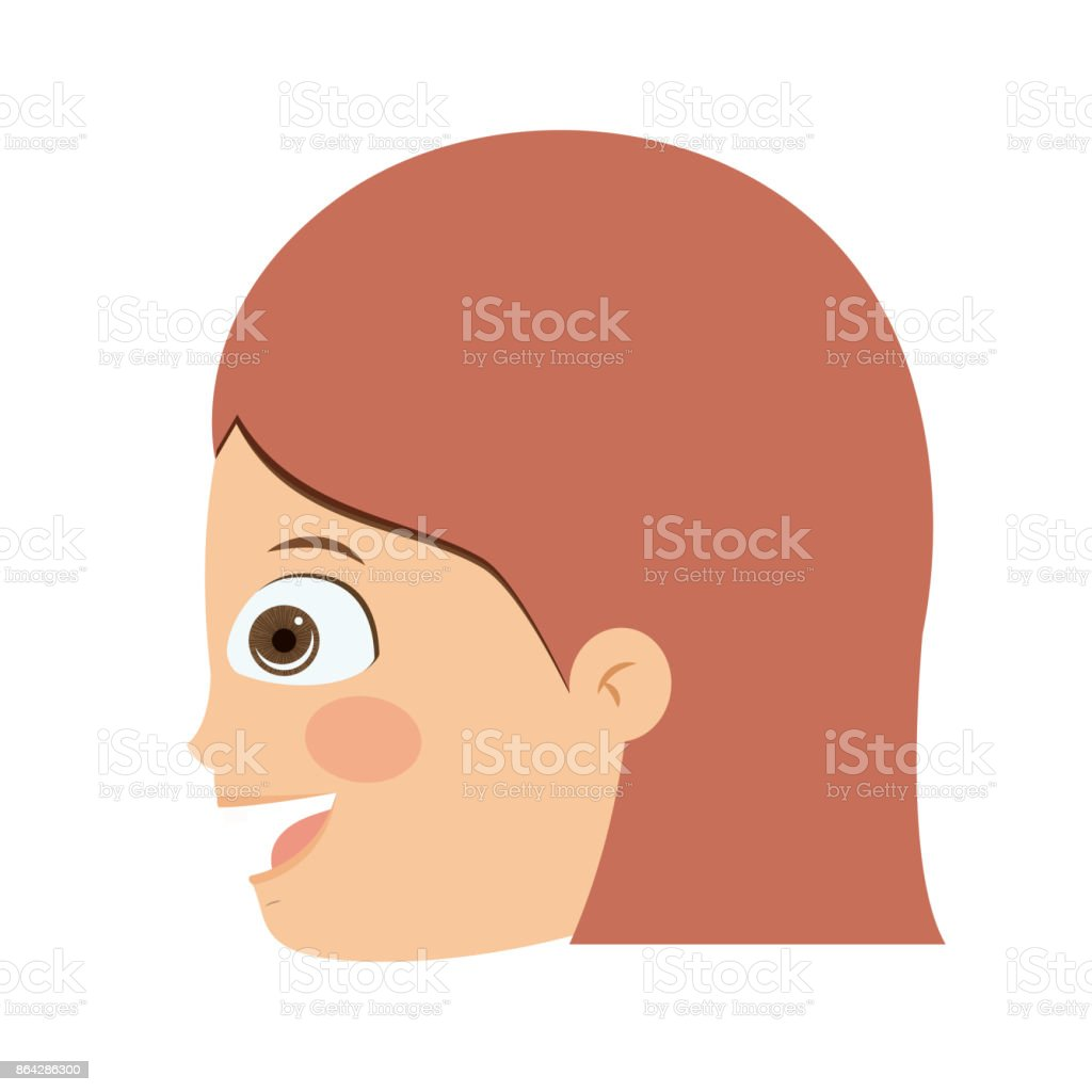 girl head profile isolated icon design royalty-free girl head profile isolated icon design stock vector art & more images of adult