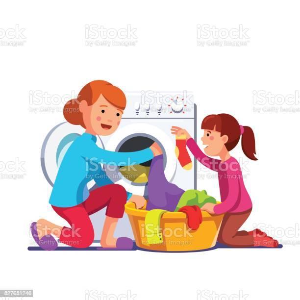 Girl help mum loading laundry to washing machine vector id827681246?b=1&k=6&m=827681246&s=612x612&h=2af7l9ldlmqdvw0f9hxjtdve1bvtk156g8hjwb2l1fe=