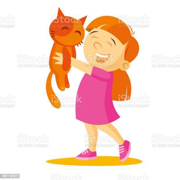 Girl holding a kittenvector illustration vector id981130374?b=1&k=6&m=981130374&s=612x612&h=4lucy3t1lclz0ncujubxcqzsqs49lw1xjhnu2ui27jg=