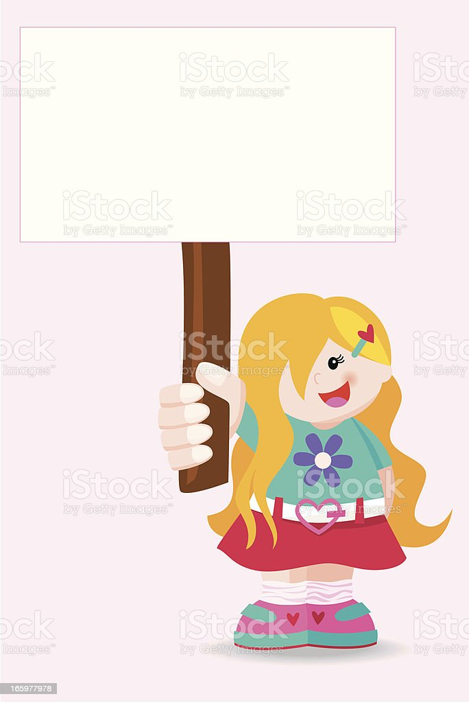 Girl holding a sign royalty-free girl holding a sign stock vector art & more images of carrying