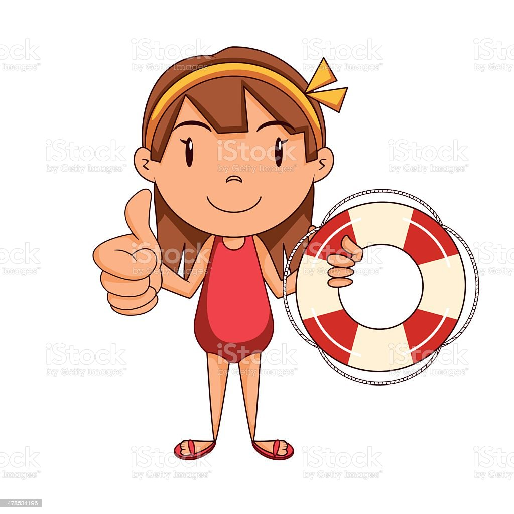 royalty free lifeguard girl clip art vector images illustrations rh istockphoto com lifeguard clipart free lifeguard cross clipart