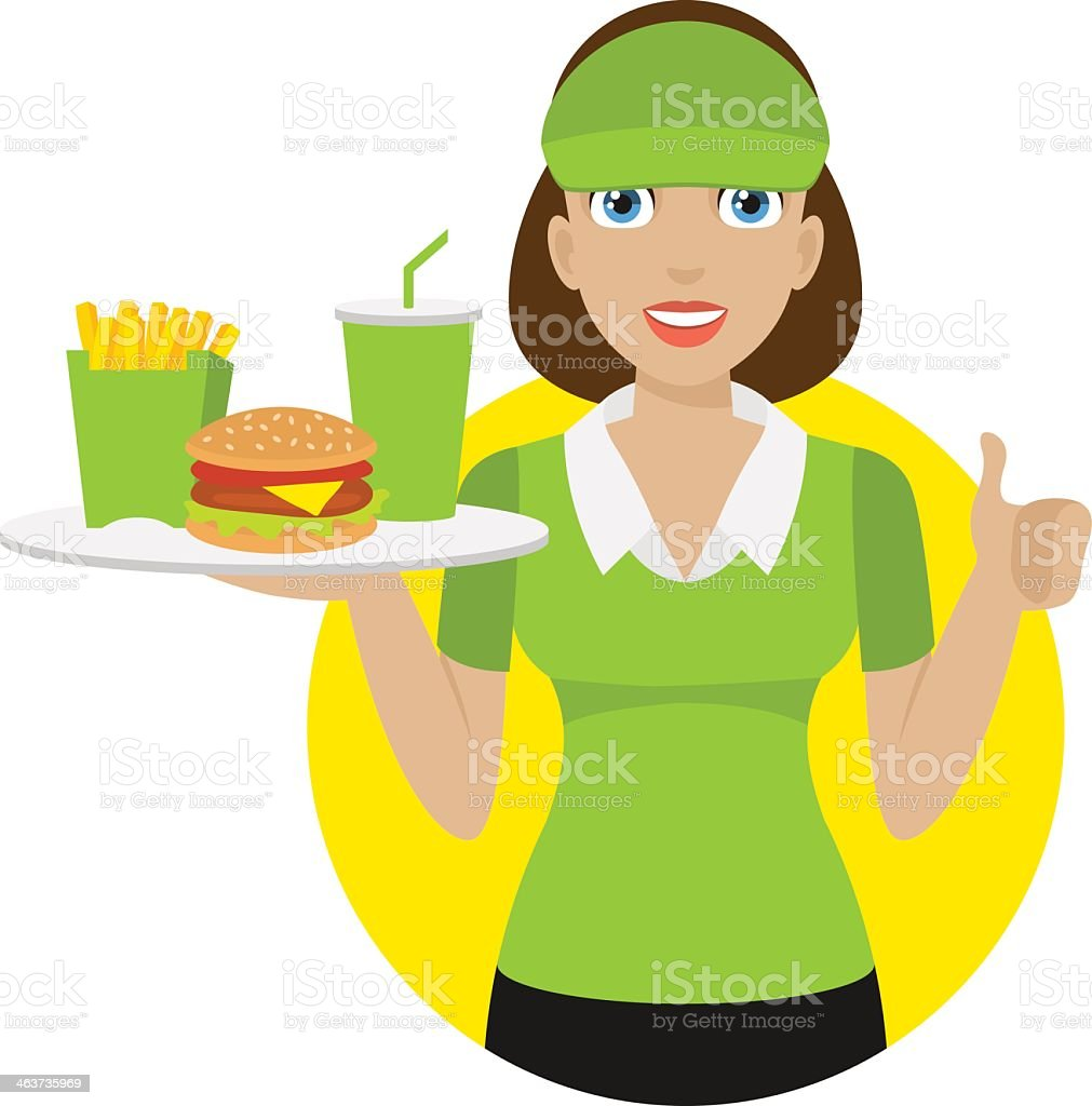 royalty free waitress uniform clip art vector images rh istockphoto com waitress clipart images cartoon waitress clipart