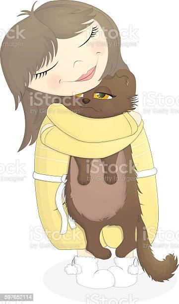 Girl hugging cat vector id597652114?b=1&k=6&m=597652114&s=612x612&h=rompzdzcn7 zodchentlmu5zetaz18nrmfgumqqlpsw=
