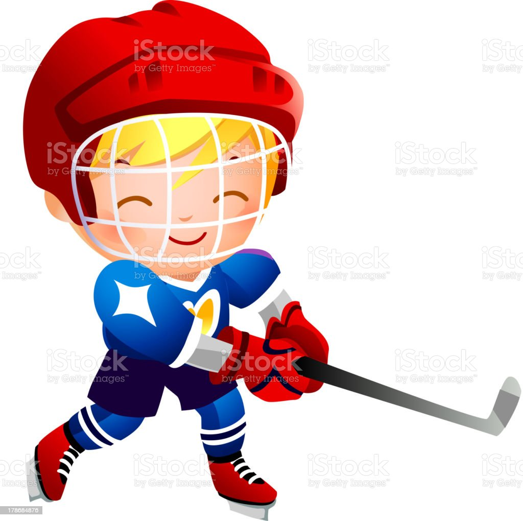 Girl ice hockey player royalty-free stock vector art