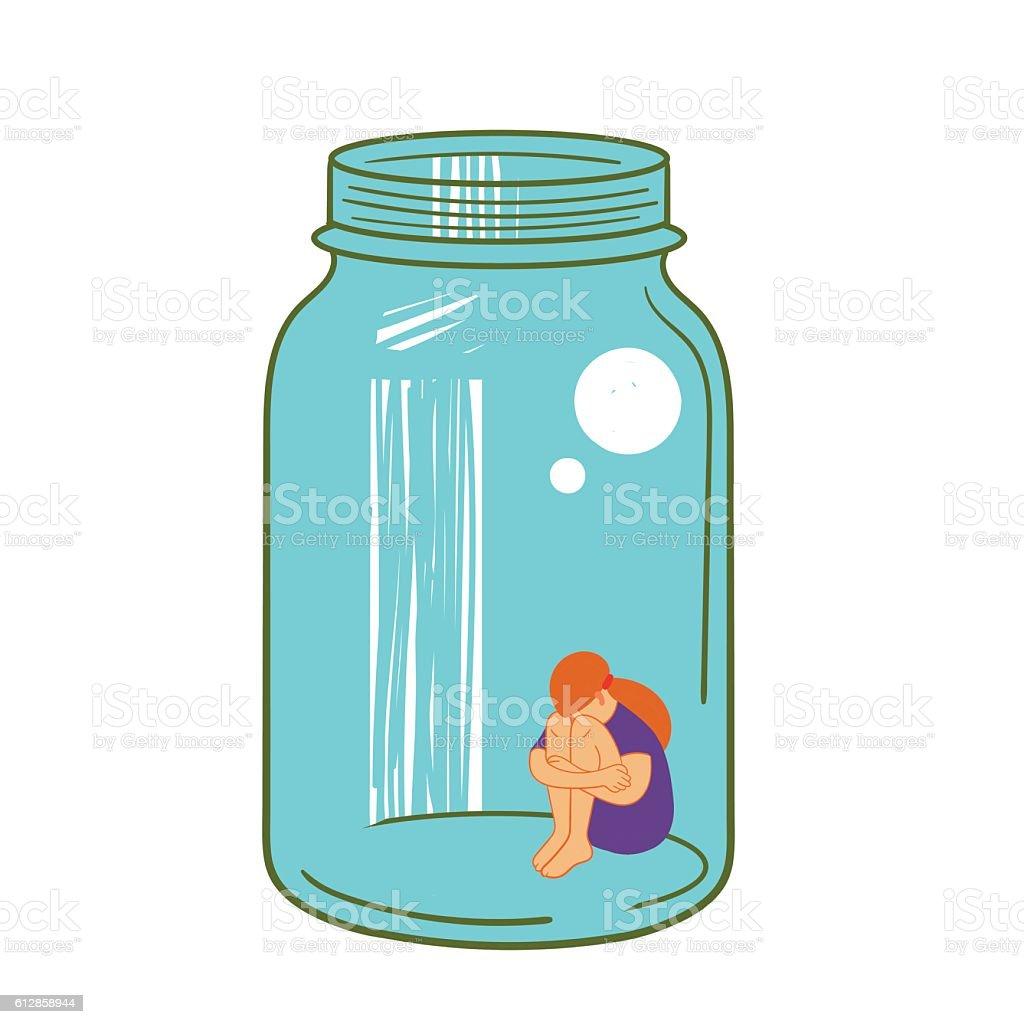 girl in a glass jar