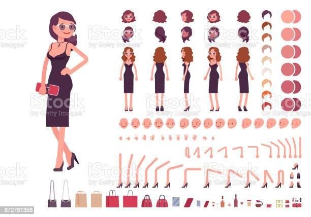 Girl in evening dress character creation set vector id872761358?b=1&k=6&m=872761358&s=612x612&h=ixfw gutf7lvkusfco9akwhuhrggfupipeauktqs tc=