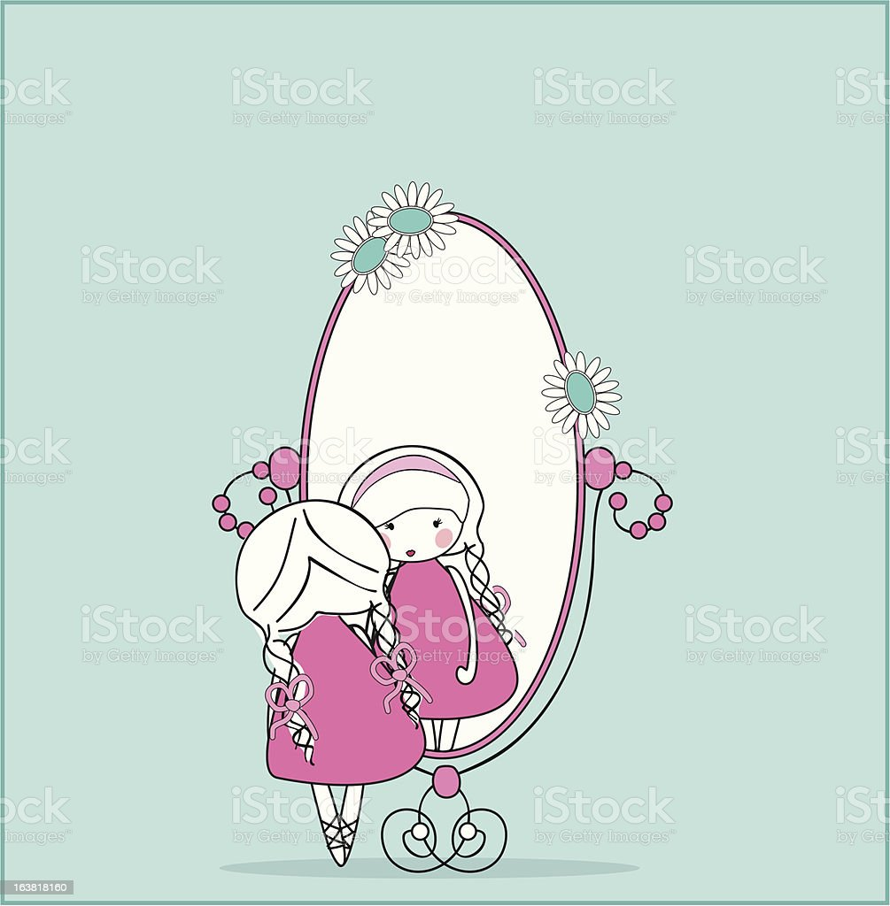 girl in mirror royalty-free girl in mirror stock vector art & more images of adult