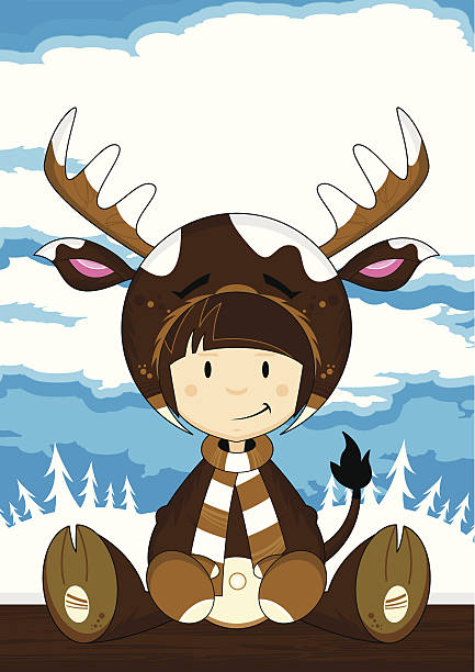 Best Clip Art Of A Female Elk Illustrations, Royalty-Free ...