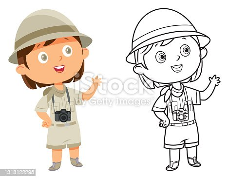 istock Girl in scout uniform 1318122295