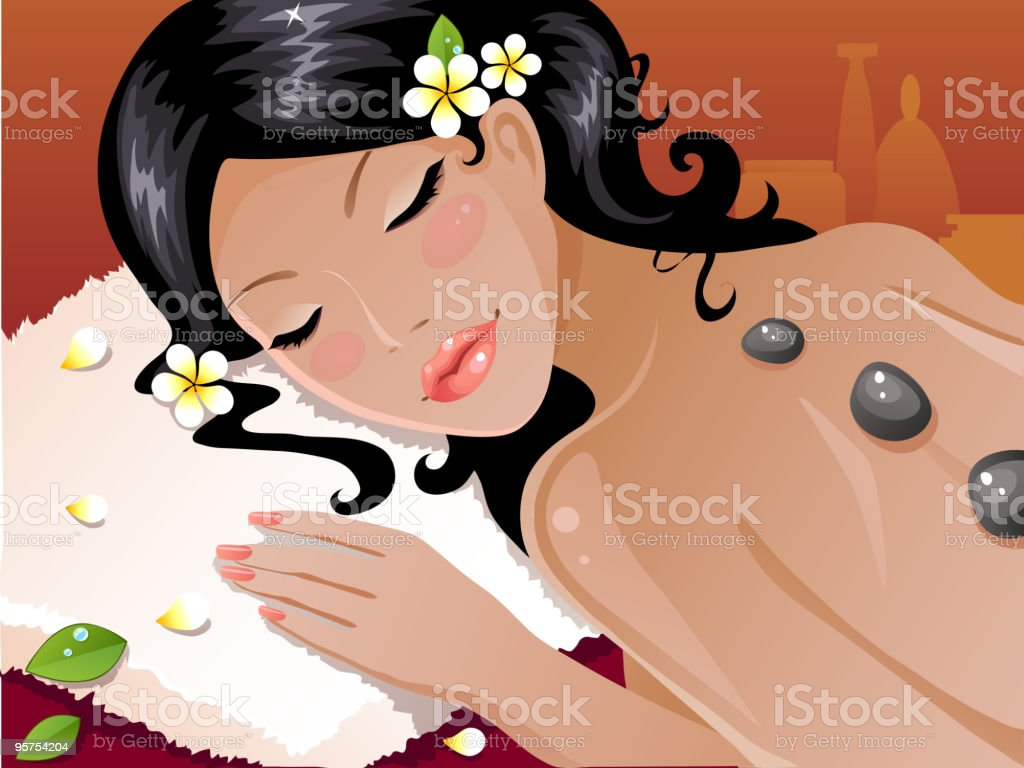 Girl in spa royalty-free girl in spa stock vector art & more images of adult