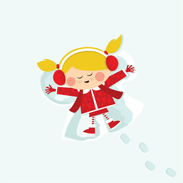 mädchen im schnee - kinderstiefel stock-grafiken, -clipart, -cartoons und -symbole