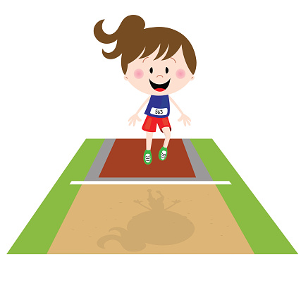Girl in triple jump at the Olympics
