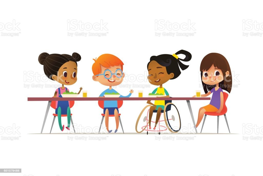 Friends Eating Clip Art Vector Images Illustrations iStock