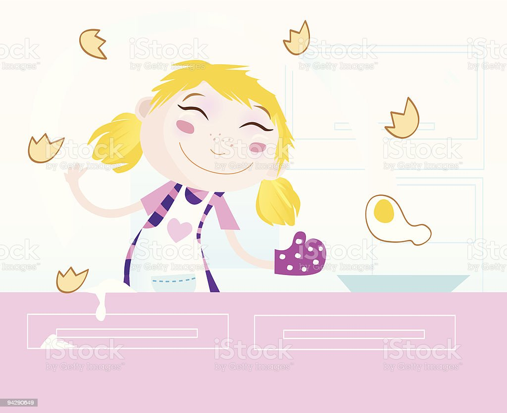 Girl is cooking royalty-free girl is cooking stock vector art & more images of adult