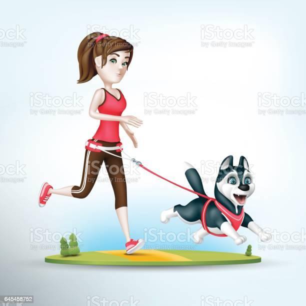 Girl jogging with her siberian husky dog vector id645458752?b=1&k=6&m=645458752&s=612x612&h=r8vazxeaevaczqe7 6oiyylbtpgyiy1fsg 7x8lhino=