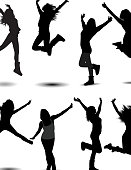 Girl Jumping Silhouette pose