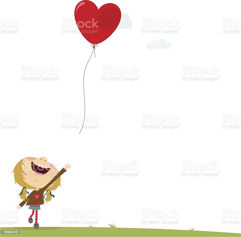 Girl love royalty-free stock vector art